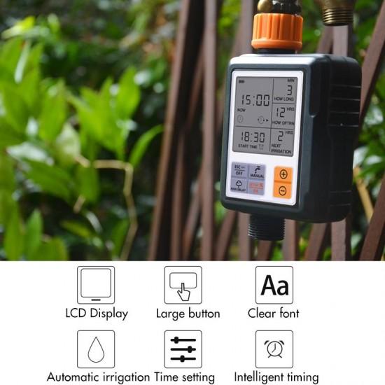 Programator irigare gradina, display LCD, IP44, udat, stropire gazon, peluza