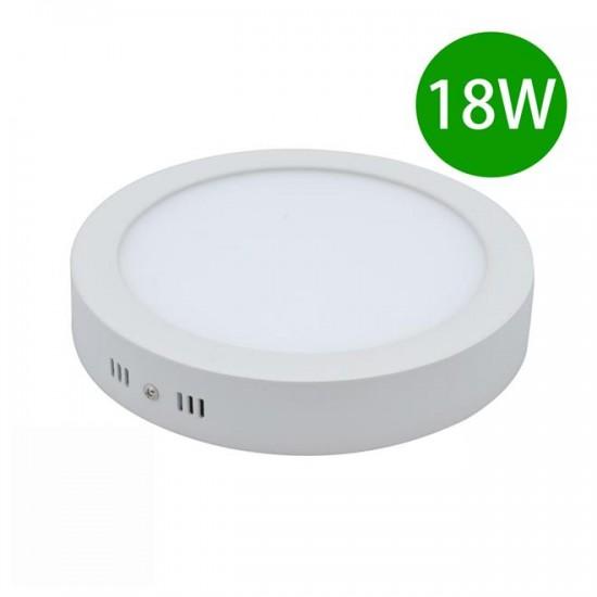 Panou LED aplicat, 18W, rotund, 6500K, alb