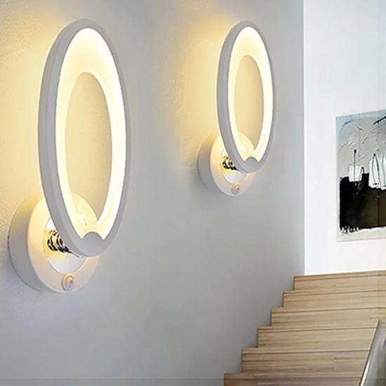 Aplica LED perete simpla, design modern, 8W, lumina calda