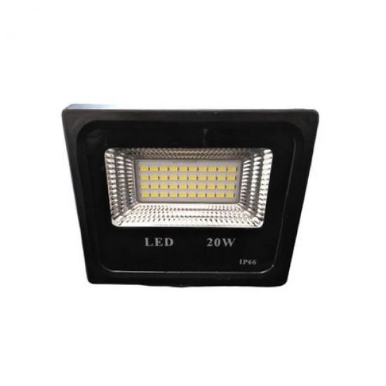 Proiector LED exterior 20W, negru, lumina rece, 1800lm, IP66