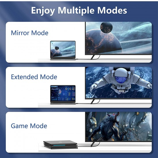 Cablu HDMI 4K, 3D, Premium, UHD, 2.0V, Ethernet, 10m