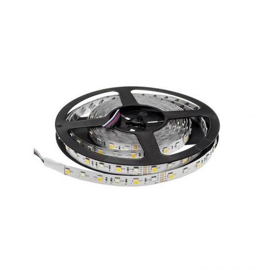 Banda LED interior 12V, 5050, 60D, 4000K, IP20, rola-5m, lumina calda