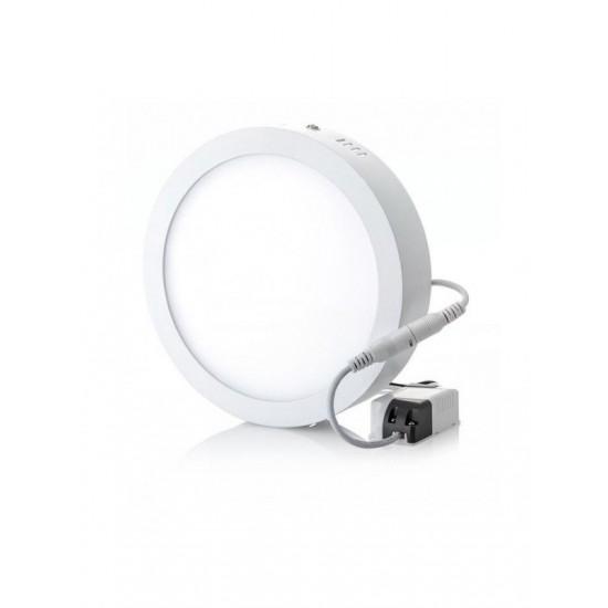 Panou LED aplicat, 24W, rotund, 6500K, alb