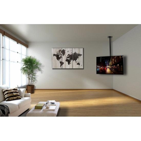 Suport TV montare tavan, negru, 32'' - 72''