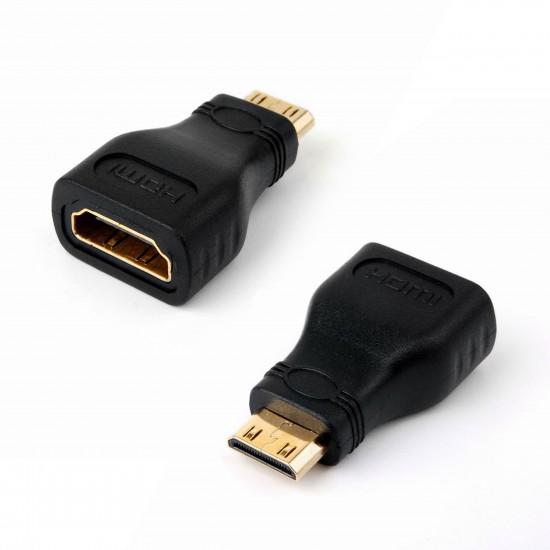 Adaptor HDMI mama - MINI HDMI tata, negru