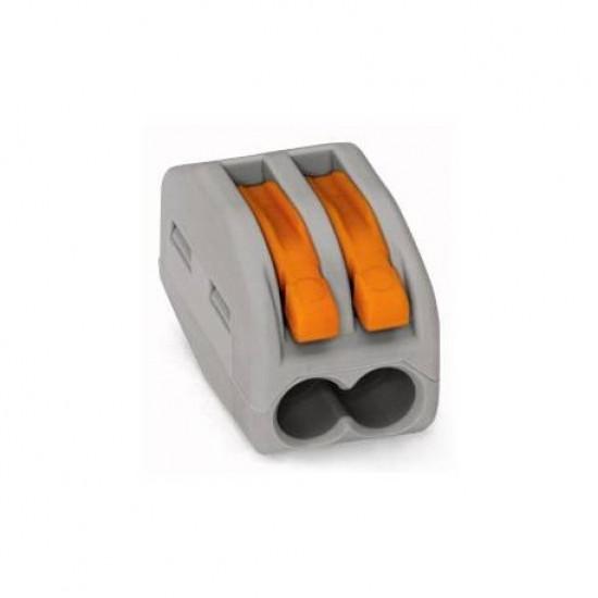 Conector de terminale cu clips-tip WAGO-2x4mm- Gri