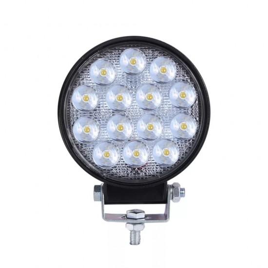 PROIECTOR LED AUTO OFFROAD 48W,12V- 24V SPOT ROTUND