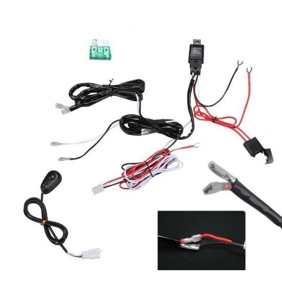 Kit instalare Proiector auto, LED bar, cu intrerupator si releu