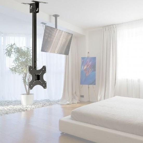 Suport TV  montare tavan, rotativ, negru 14'' - 42''