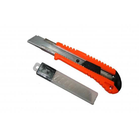 Cutter plastic Auto-Lock si 3 Lame(Portocaliu)