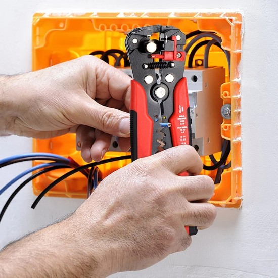 Cleste automat dezizolat, sertizat, taiat cablu electric, profesional 5 in 1