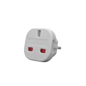 Adaptor stecher priza shuko - UK/USA - EU doi pini alb