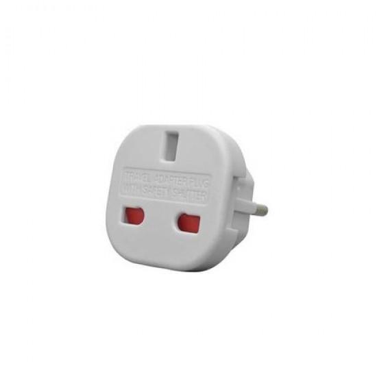 Adaptor stecher priza shuko - UK/USA - EU doi pini alb
