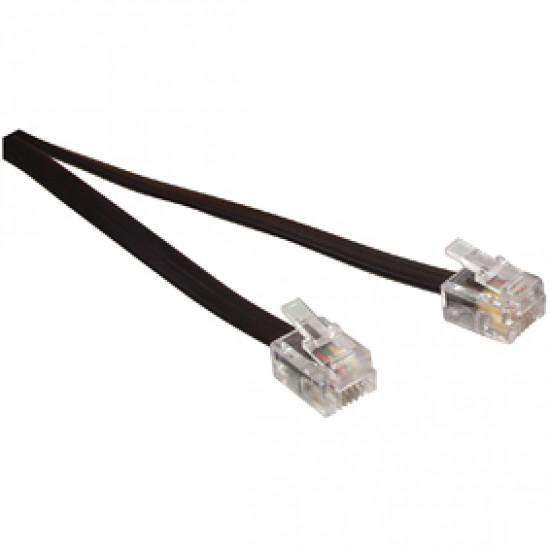 Cablu telefon cu mufe 10m negru