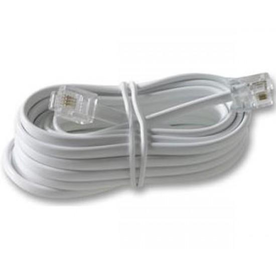 Cablu telefon cu mufe 4m alb