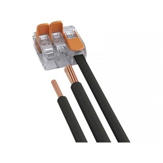 Conector de terminale cu clips-tip WAGO-3x4mm