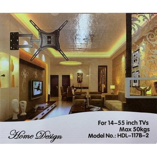 Suport TV cu brat de perete, Home Design, negru, 26'' - 55''