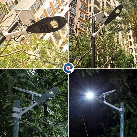 Lampa LED 50W iluminat stradal cu panou solar si telecomanda
