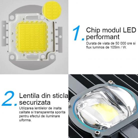 Lampa stradala LED COB 50W, IP65, 6500k
