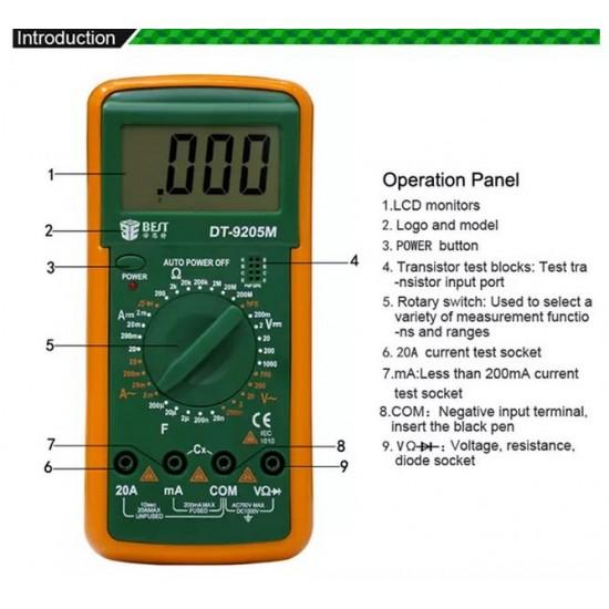 Multimetru BST-9205M