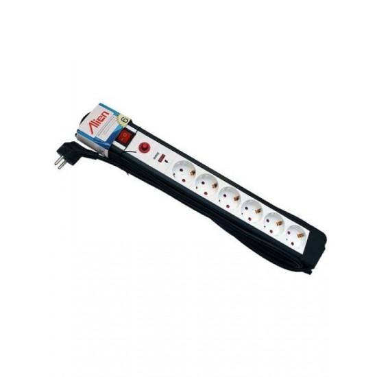 Prelungitor cu protectie supratensiune 6 prize 3m cu cablu 3x1,5mm