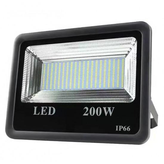 Proiector LED exterior 200W , lumina rece, 18000lm, IP66, negru