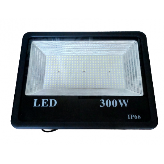 Proiector LED exterior 300W , lumina rece, 27000lm IP66 ,negru