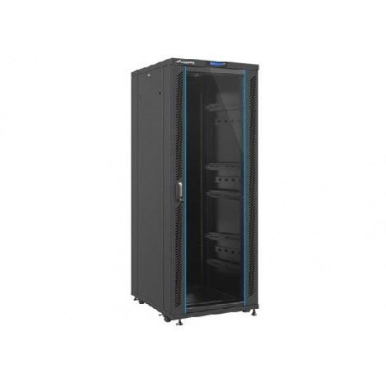 Rack server de podea 19 inci 27U 600x600x1388 usa frontala sticla