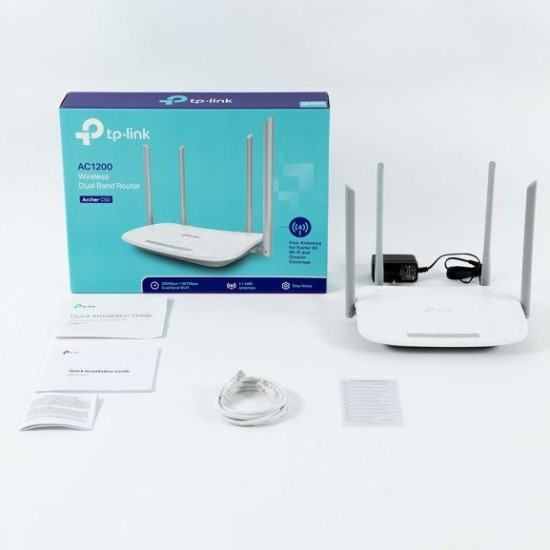 Router Wireless TP-Link ARCHER C50 v3, 1xWAN 10/100, 4xLAN 10/100, 4 antene externe,dual-band