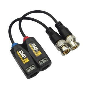 Video Balun 8MP- 4K, AHD-CVI-TVI-CVBS press fit